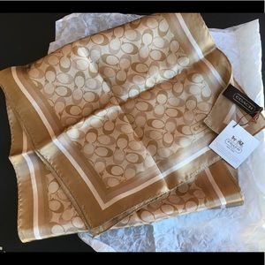Coach signature silk oblong scarf - New with tags